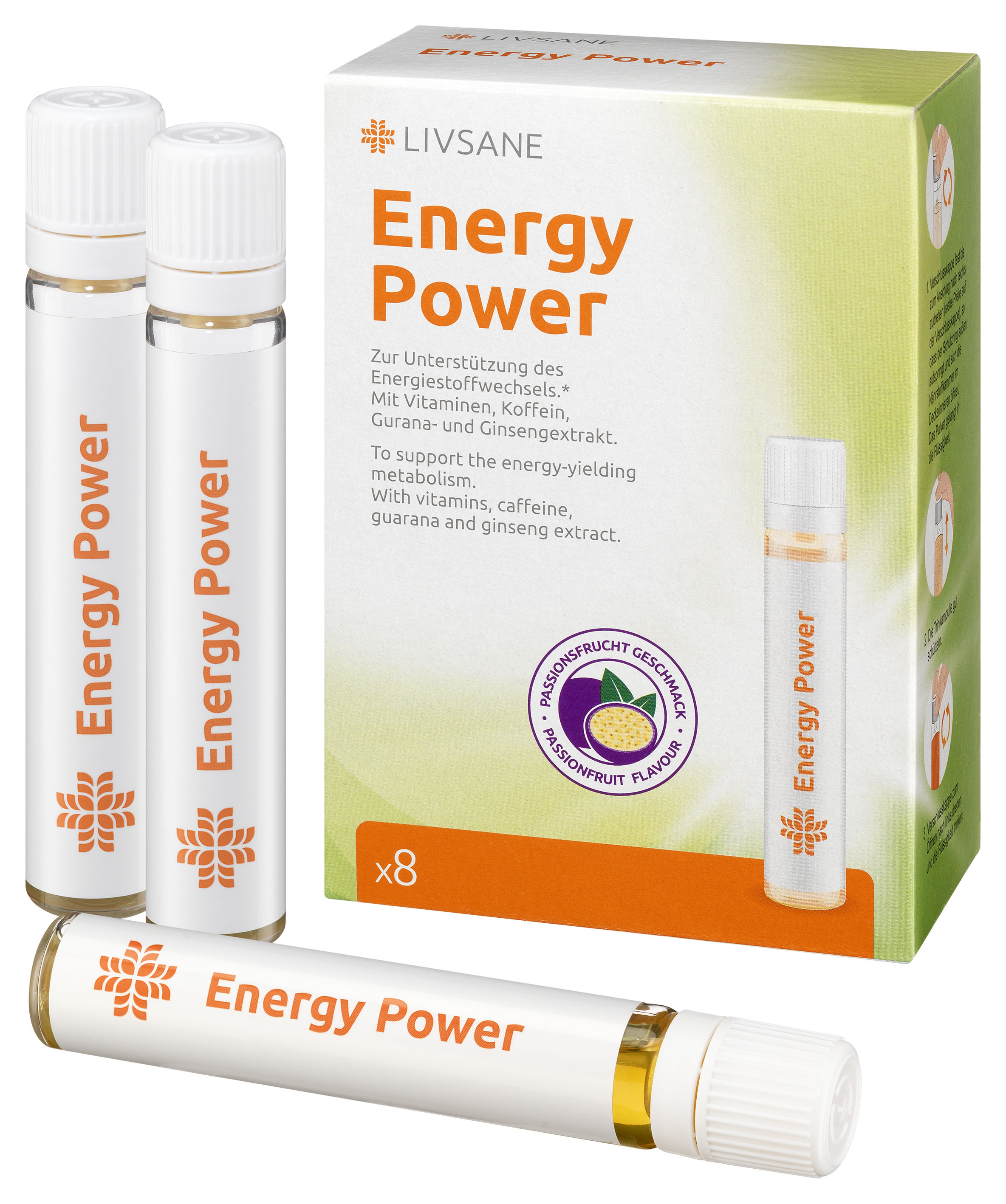Livsane - LIVSANE Energy power roztok v ampulkách 8x22,5 ml (180 ml)