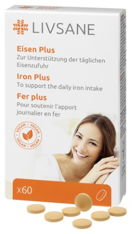 LIVSANE Železo Plus s Vitamínmi tbl 1x60 ks